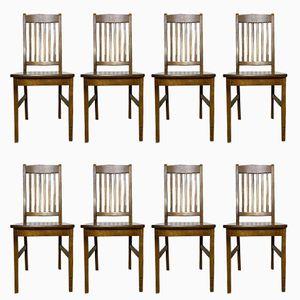 Chaises de Salle à Manger Vintage en Bouleau, Set de 8