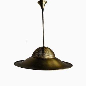 Lámpara colgante vintage de latón, años 60