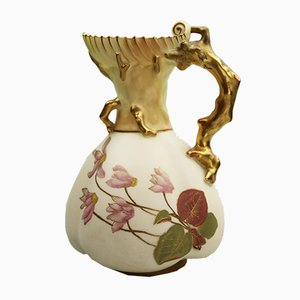 Antique English Porcelain Jug from Royal Worcester, 1891