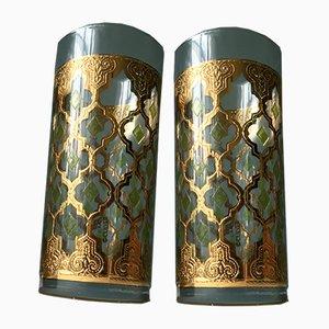 Mid-Century Gläser mit 22 Karat Goldüberzug von Culver Glass, 2er Set