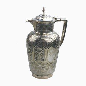 Brocca antica argentata di John Round, metà XIX secolo