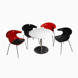 Juego de mesa y cuatro sillas vintage de Claus Breinholt para Infiniti