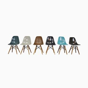 DSW Chairs by Charles & Ray Eames for Herman Miller, 1970s, Set of 6