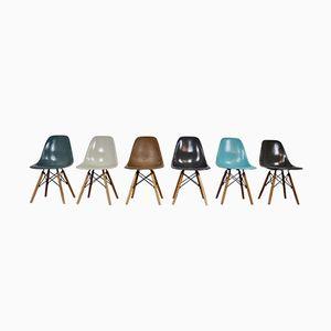 DSW Stühle von Charles&Ray Eames für Herman Miller, 1970er, 6er Set