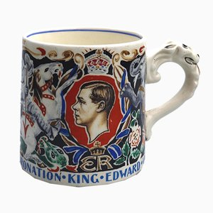 British Edward VIII Commemorative Art Pottery by Dame Laura Knight, 1937