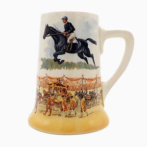 Porcelain Grand National Winner Tankard from Royal Doulton, 1937