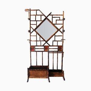 Stand da ingresso Chippendale in simil bambù, XIX secolo