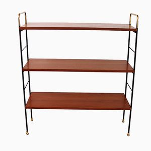 Teak Shelf with Brass Feet, 1960s