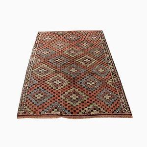 Bunter Türkischer Vintage Boho Kilim Teppich aus Wolle, 1960er
