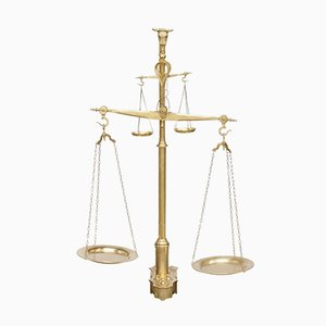 Balance de Boucher Antique en Laiton