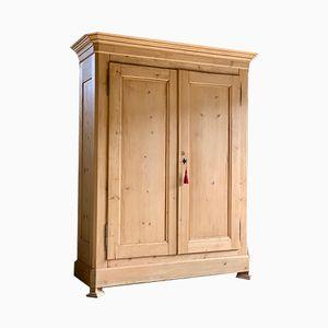 Antiker französischer Kleiderschrank aus Pinienholz