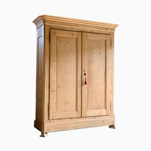 Antique French Pine Wardrobe