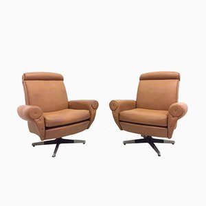 Mid-Century Swivel Lounge Chairs, 1960s, Set of 2