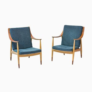 Danish Easy Chairs by Hvidt & Mølgaard for France & Daverkosen, 1950s, Set of 2