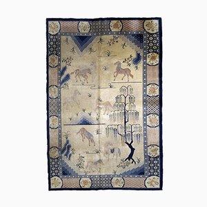 Handgemachter chinesischer Vintage Teppich, 1930er