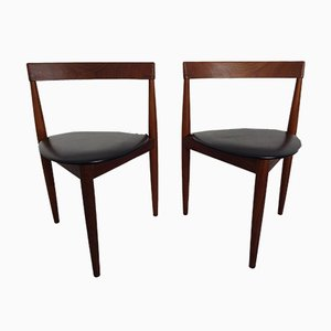 Vintage Danish Teak Dining Chairs by Hans Olsen for Frem Røjle, 1950s, Set of 2
