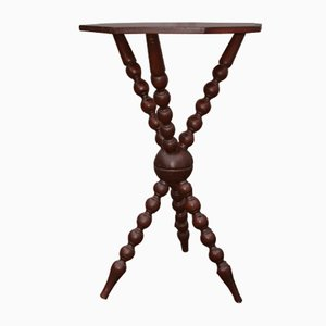 Vintage Bobbin Tripod Table, 1920s
