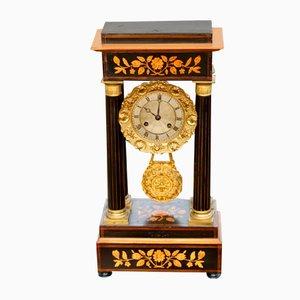 Orologio da camino Portico, Francia, fine XIX secolo