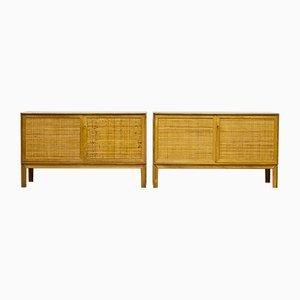 Sideboards aus Teak, Eiche & Rattan von Alf Svensson für Bjästa Möbelfabrik, 1960er, 2er Set