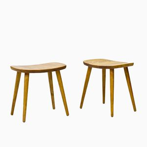 Swedish Palle Birch Stools by Yngve Ekström for Stolab, 1950s, Set of 2