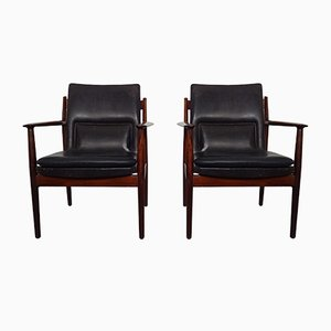 Mahogany Model 341 Chair by Arne Vodder for Sibast Møbler, 1960s, Set of 2