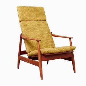 Chaise à Dossier Haut Modèle 340 par Poul Volther pour Frem Røjle, 1961