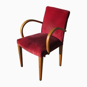 Golden Oak Bridge Armchair, 1920s