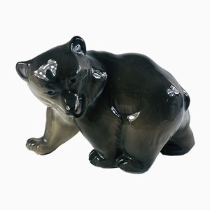 Scultura Grizzly Bear nr. 2841 di Knud Kyhn per Royal Copenhagen, anni '50