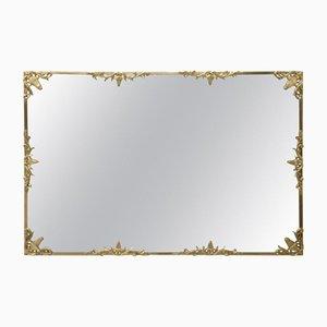 Espejo de bronce dorado, años 50