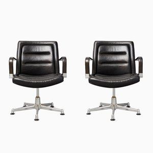 Vintage Model 8000 Swivel Chairs by Jorgen Kastholm for Kusch & Co, Set of 2