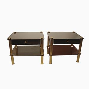 Modernist Side Tables, 1970s, Set of 2
