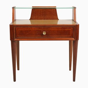 Table de Chevet Mid-Century en Noyer, 1940s