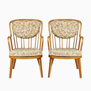 Swedish Model 1774 Lounge Chairs by Aage Herman Olsen for Kocks Snickerifabrik, 1945, Set of 2