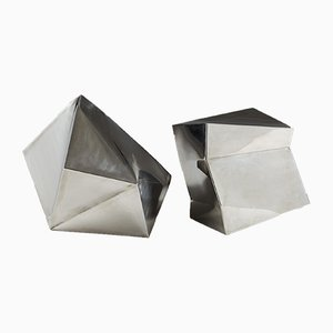 Danish Steel Sculptures by Ib Agger, 2006, Set of 2
