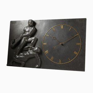 Danish Monumental Wall Clock, 1947
