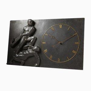 Danish Monumental Wall Clock, 1947