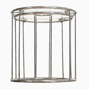 Mid-Century Satztische aus Chrom & Glas