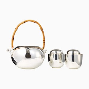 Danish Tea Set by Vivanna Torun Bülow-Hübe for Dansk International Designs, 1950s