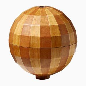 Danish Wooden Bowl Sculpture in Box by Søren Risvang, 1950s