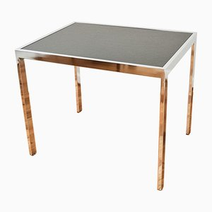 Mid-Century Chrome & Slate End Table by Milo Baughman for DIA