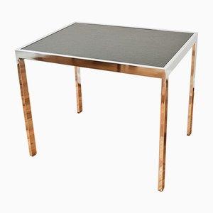 Tavolo da pranzo Mid-Century in metallo cromato e ardesia di Milo Baughman per DIA