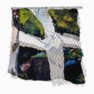 Schwedische Forest Fragments Tapisserie von Elsa Agélii, 1988