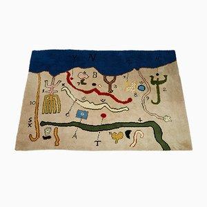 Schottischer Wandteppich mit Karten-Muster von Alan Davie, 1976