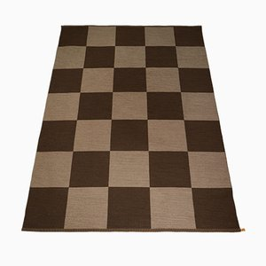 Vintage Swedish Arkad Checkerboard Rug by Gunilla Lagerhem-Ullberg for Kasthall
