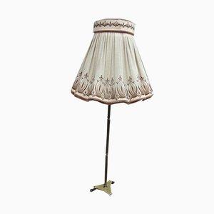 Vintage Industrial Brass Floor Lamp, 1970s