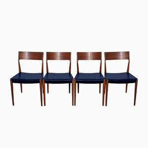 Personalisierbare Vintage Stühle aus Teak, 4er Set