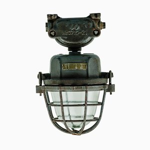 Lampada da soffitto girevole industriale di Schaco, anni '30