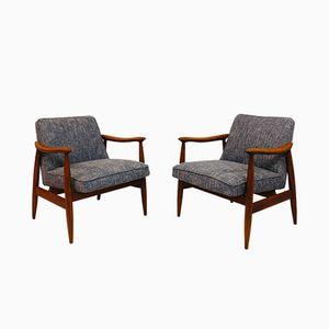 GFM-87 Easy Chairs by Juliusz Kedziorek for Gościcińskie Fabryki Mebli, 1960s, Set of 2