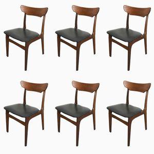 Chaises de Salon en Teck par Schionning Elgaard pour Randers, 1960s, Danemark, Set de 6