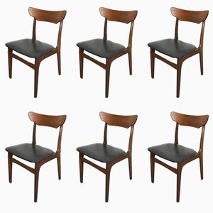 Dänische Esszimmerstühle aus Teak von Schionning Elgaard für Randers, 1960er, 6er Set
